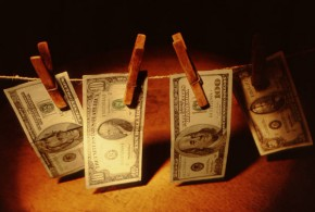bills on a line