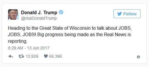 Trump jobs tweet