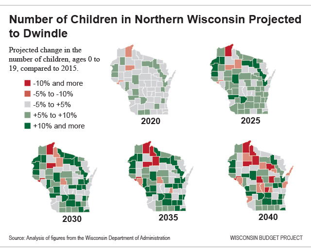 Number of children in northern Wisconsin projected to dwindle